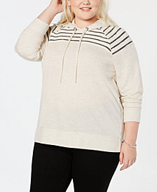 Style & Co Plus Size Hooded Sweatshirt, Created for Macy's