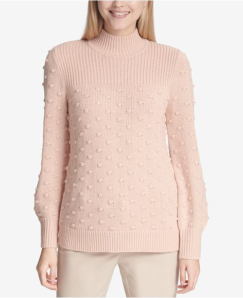 14634dd994f Calvin Klein Popcorn-Knit Mock Turtleneck Sweater   Reviews ...