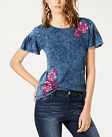I.N.C. Short-Sleeve Embroidered T-Shirt, Created for Macy's