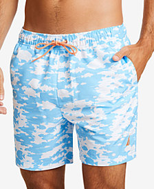 "Nautica Men's Tropical Fish Printed Quick-Dry 8"" Swim Trunks"