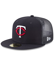 New Era Minnesota Twins On-Field Mesh Back 59FIFTY Fitted Cap