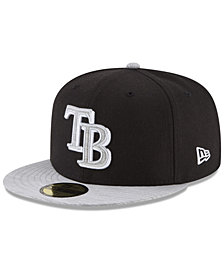 New Era Tampa Bay Rays Black Heather 59FIFTY Fitted Cap