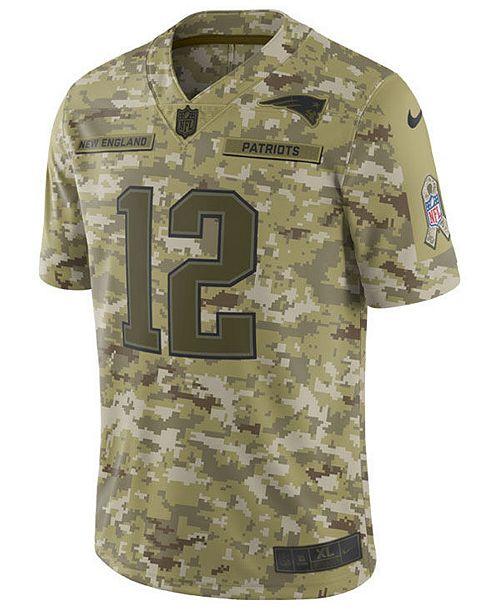 66207644e Nike Men s Tom Brady New England Patriots Salute To Service Jersey 2018 ...