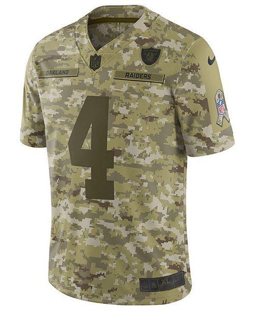 Nike Men s Derek Carr Oakland Raiders Salute To Service Jersey 2018 ... d80c9678d