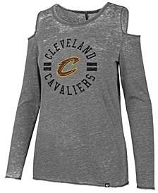 Women's Cleveland Cavaliers Cold Shoulder Long Sleeve T-Shirt