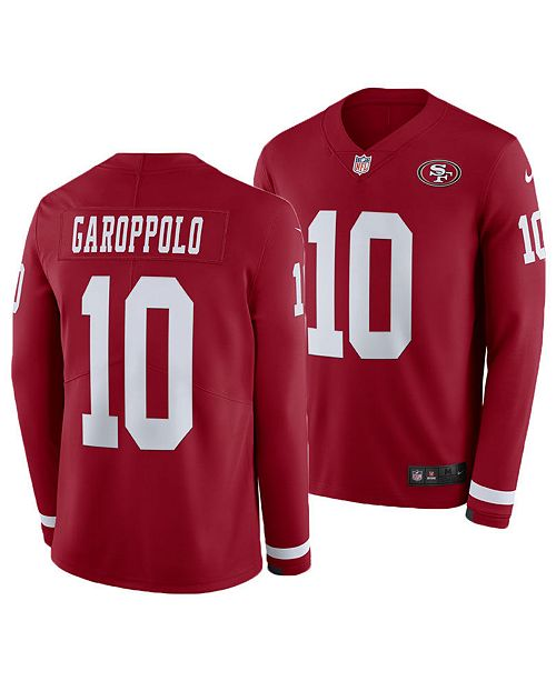 detailed look db9ca 13d06 Men's Jimmy Garoppolo San Francisco 49ers Therma Jersey