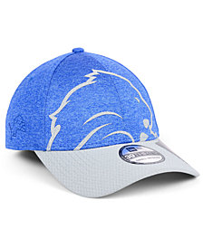 New Era Detroit Lions Oversized Laser Cut Logo 39THIRTY Cap