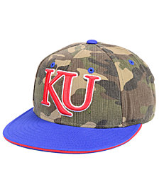 adidas Kansas Jayhawks Stadium Performance Camo Fitted Cap