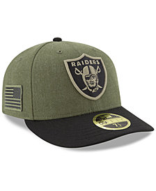 New Era Oakland Raiders Salute To Service Low Profile 59FIFTY Fitted Cap 2018
