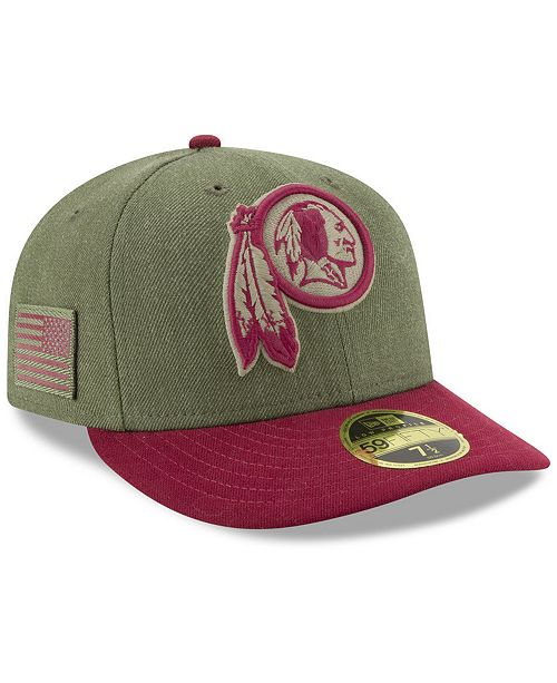 b887b412be6e1 ... New Era Washington Redskins Salute To Service Low Profile 59FIFTY Fitted  Cap 2018 ...