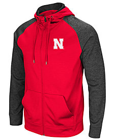 Colosseum Men's Nebraska Cornhuskers Magic Rays Full-Zip Hooded Sweatshirt