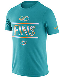 Nike Men's Miami Dolphins Dri-Fit Cotton Local T-Shirt