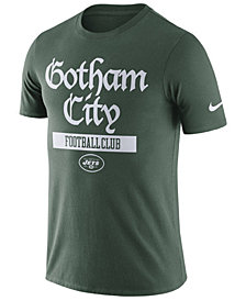 Nike Men's New York Jets Dri-Fit Cotton Local T-Shirt