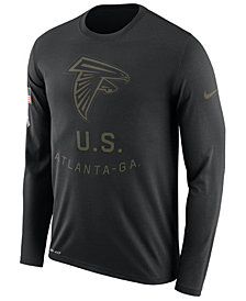 Nike Men's Atlanta Falcons Salute To Service Legend Long Sleeve T-Shirt