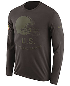 Nike Men's Cleveland Browns Salute To Service Legend Long Sleeve T-Shirt