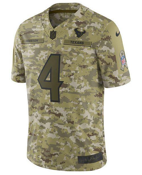 outlet store 4a37f 288a1 Nike Men's DeShaun Watson Houston Texans Salute To Service ...