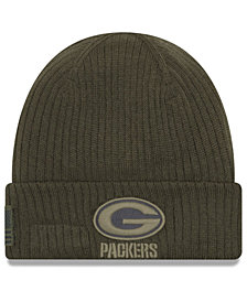 New Era Green Bay Packers Salute To Service Cuff Knit Hat