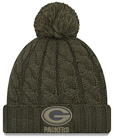 New Era Women's Green Bay Packers Salute To Service Pom Knit Hat
