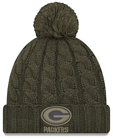 fc80c0b7143c6 New Era Women s Green Bay Packers Salute To Service Pom Knit Hat