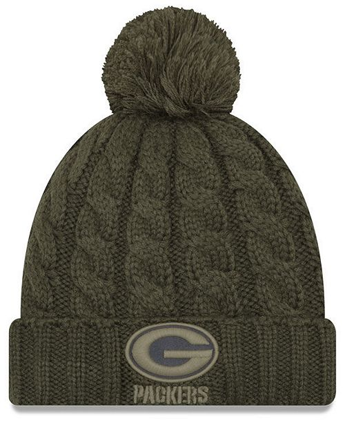 ... Hat  New Era Women s Green Bay Packers Salute To Service Pom Knit ... 92addf5a8