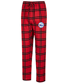 Concepts Sport Men's Philadelphia 76ers Homestretch Flannel Sleep Pants