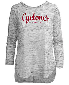 Pressbox Women's Iowa State Cyclones Spacedye Long Sleeve T-Shirt