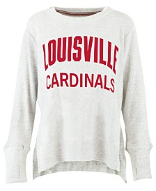 Pressbox Women's Louisville Cardinals Cuddle Knit Sweatshirt