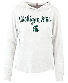 Pressbox Women's Michigan State Spartans Cuddle Knit Hooded Sweatshirt