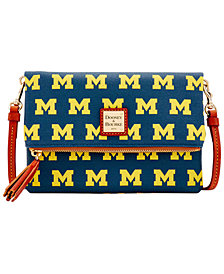 Dooney & Bourke Michigan Wolverines Foldover Crossbody Purse