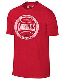 Retro Brand Men's Louisville Cardinals Baseball Dual Blend T-Shirt