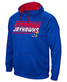 Colosseum Men's Kansas Jayhawks Stack Performance Hoodie