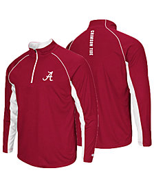 Colosseum Men's Alabama Crimson Tide Rival Quarter-Zip Pullover
