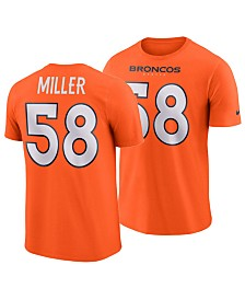 Nike Men's Von Miller Denver Broncos Pride Name and Number Wordmark T-Shirt
