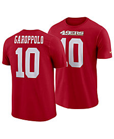 Nike Men's Jimmy Garoppolo San Francisco 49ers Pride Name and Number Wordmark T-Shirt