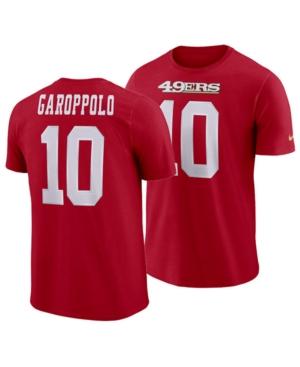 Nike Men's Jimmy Garoppolo San Francisco 49ers Pride Name and Number Wordmark T-Shirt