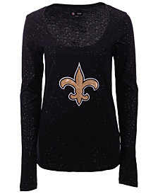 5th & Ocean New Orleans Saints NFL Women's Sleeve Stripe Long Sleeve T-Shirt