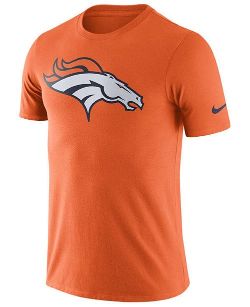 Nike Men's Denver Broncos Dri Fit Cotton Essential Logo T Shirt
