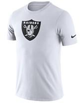 Nike Men s Oakland Raiders Dri-Fit Cotton Essential Logo T-Shirt 81484b072