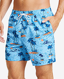 "Nautica Men's Hawaiian Island Printed Quick-Dry 8"" Swim Trunks"