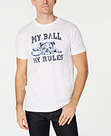 Club Room Men's Football Bulldog Graphic T-Shirt, Created for Macy's