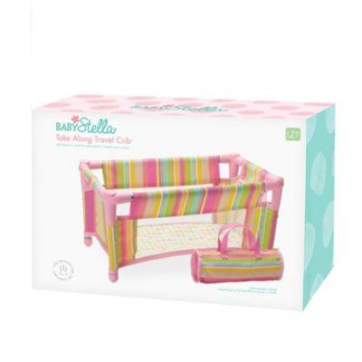 "Manhattan Toy Baby Stella Take Along Baby Doll Crib Accessory Set for 15/"" Dolls"
