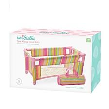 Manhattan Toy Baby Stella Take Along Travel Crib For 15 Inch Dolls