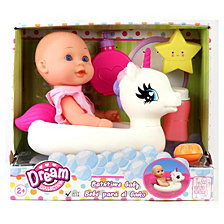Dream Collection Bath Time 12 Inches Baby Doll With Unicorn Floatie