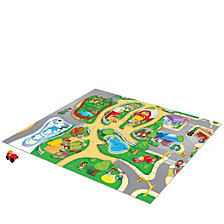 Tcg Toys Fisher Price Little People Original Mega Mat Play Mat With Bonus Vehicle