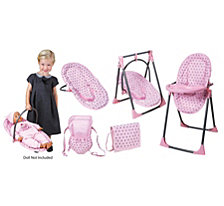 Lissi Baby Doll 6 In 1 Convertible Highchair Play Set