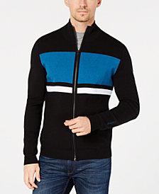 Calvin Klein Men's Colorblocked Striped Milano Cardigan
