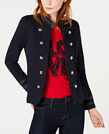 Tommy Hilfiger French-Terry Band Jacket, Created for Macy's
