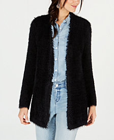 Style & Co Fuzzy Open-Front Cardigan, Created for Macy's