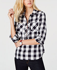 Tommy Hilfiger Plaid Popover Shirt, Created for Macy's