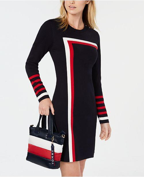 ... Tommy Hilfiger Racing Stripe Sweater Dress b2894d4677058